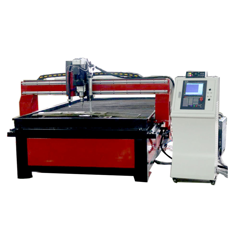 CNC plasma cutting table machine with drill /metal sheet drilling machine