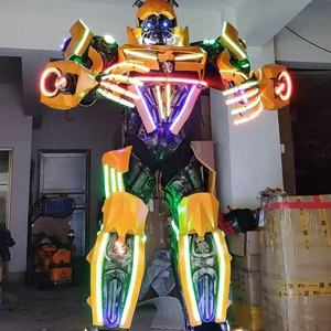 2.7 M Tall Function Material Realistic Human Wearing Robot Costumes