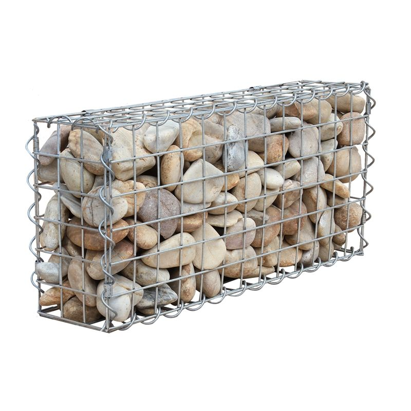 hot dipped galvanized 50*100mm mesh opening welded gabion box welded gabion cage 1x1x0.3m