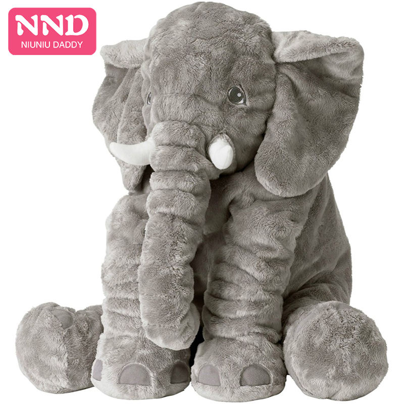 Free Shipping Elephant Plush Toy 60cm Wholesale Giant Animals Pillow Unstuffed Plush Elephant Skin Fabric Baby Gift Niuniu Daddy