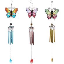 Spring Summer acrylic butterfly metal Wind chime aeolian bells