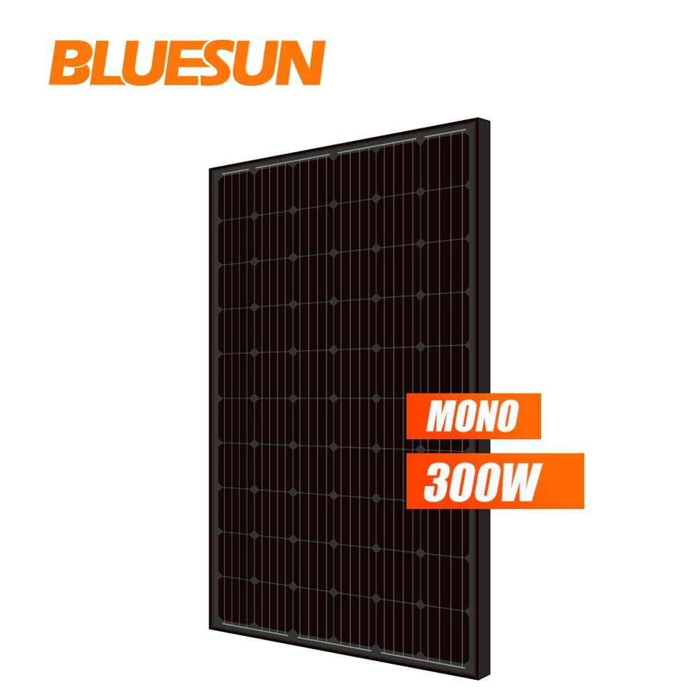 BLUESUN 300 watt photovoltaic solar panel 300W pv panels 300W solar panel monocrystalline All Black for sell