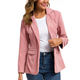 Ladies Blazer Women Casual Corduroy Suit Single Button Suit Coat