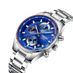 NIBOSI 2375 Mens Watches Top Brand Luxury Sport Quartz Male Clock Military Waterproof Chronograph Relogio Masculino