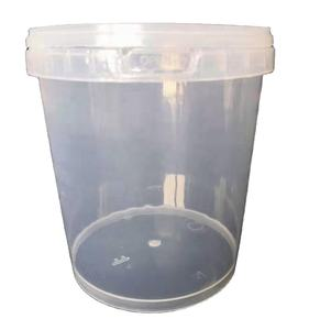 1500ml Plastic Tub Transparent Plastic Packaging Bucket 1.5 Litre Clear Plastic Packaging Tub with Lid
