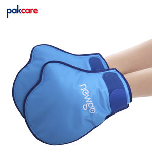 oem thermal transfer printing hot cold rehabilitation therapy wrap cooling ice gel gloves for full-hand Injuries