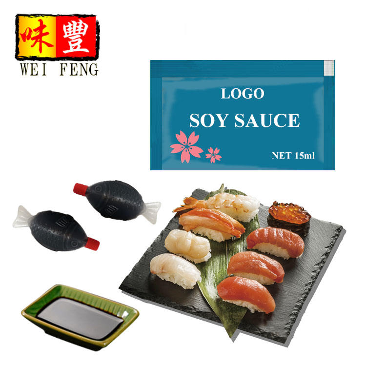 IFS HACCP BRC Certificated Factory OEM Take Away 15ML Small Bags Soya Sauce Sachet Mini Soy Sauce