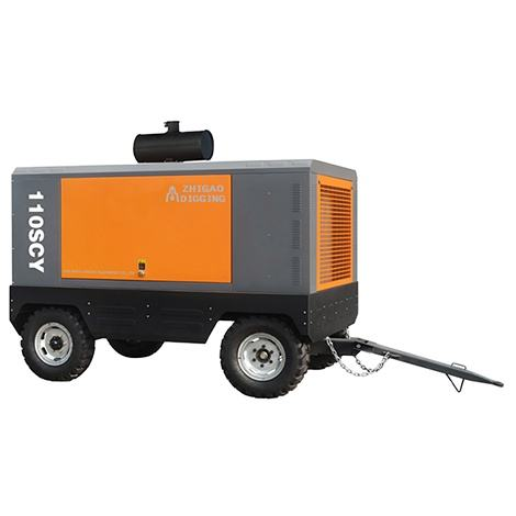 110 SCY 10Bar Portable Air Compressor China Four Wheels Air Compressor