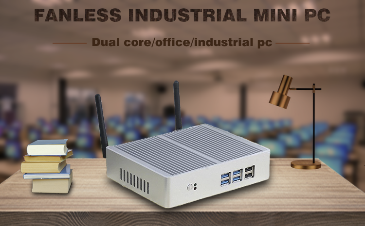 Alta qualidade industrial fanless ubuntu mini-pc celeron j1900 quad core desktop do computador