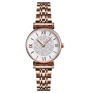 SKMEI 1533 Starry Sky Luxury Diamond Watch Fashion Stainless Steel Women Watches Diamond Quartz Wristwatches