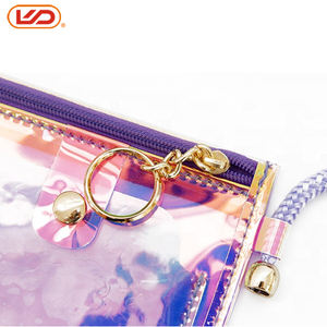 High quality PVC transparent neck strap lanyard cell phone case with long rope necklace s9