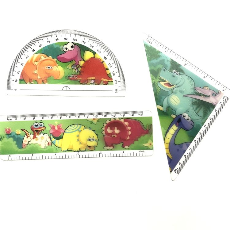 High quality 3d lenticular ruler 5d rule for school kids