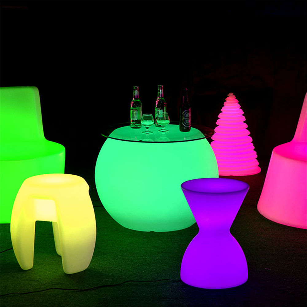pe plastic aaaa battery powered led lamp furniture for company events