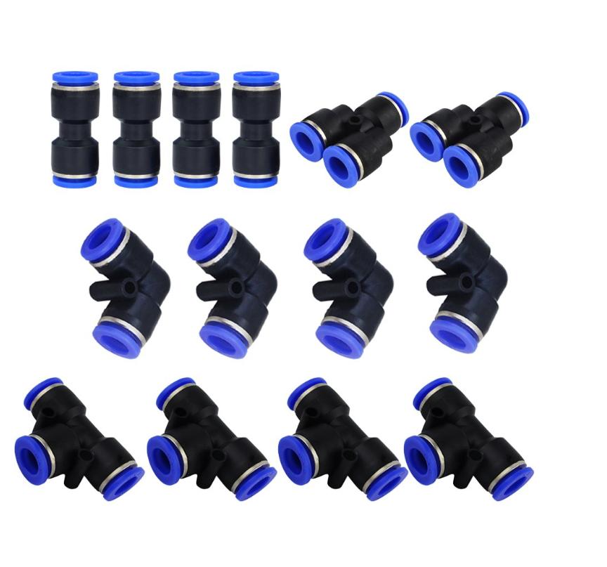Tailonz Pneumatic 30 pcs Straight Push Connectors Plastic Quick Release Conne...