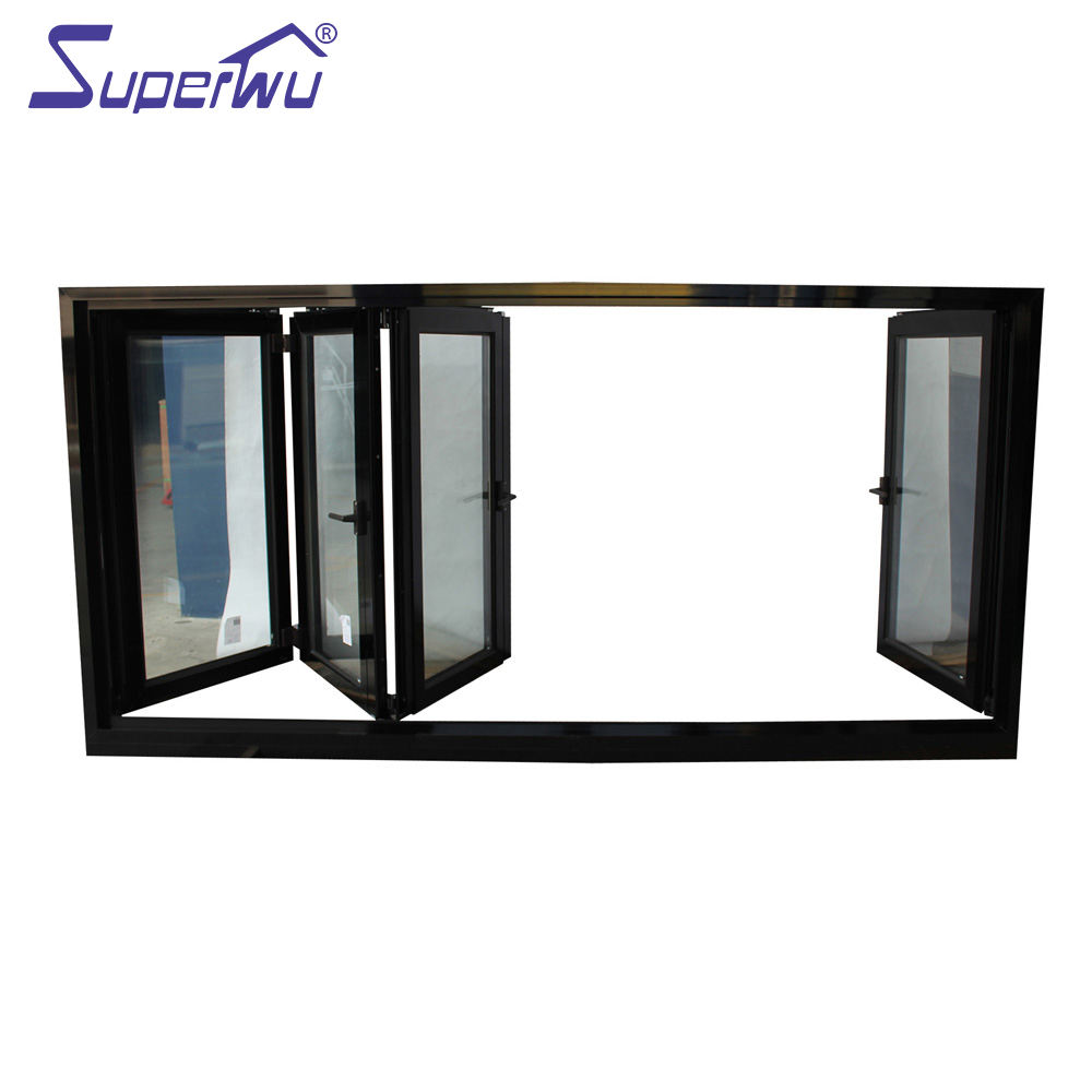 Manufacture Aluminum Storefront Electric Vertical Sliding Bi-folding Up Windows And Doors American Style