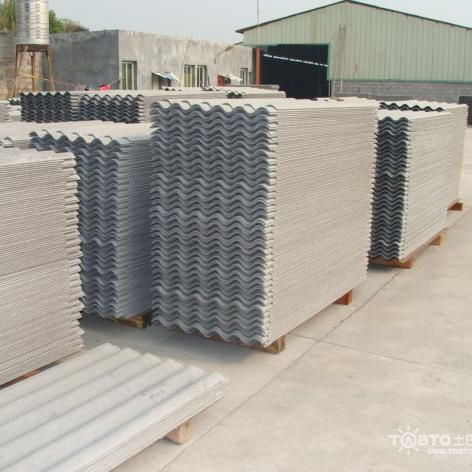 Corrugated Concrete Roof Tile Cement Board Type Made In China