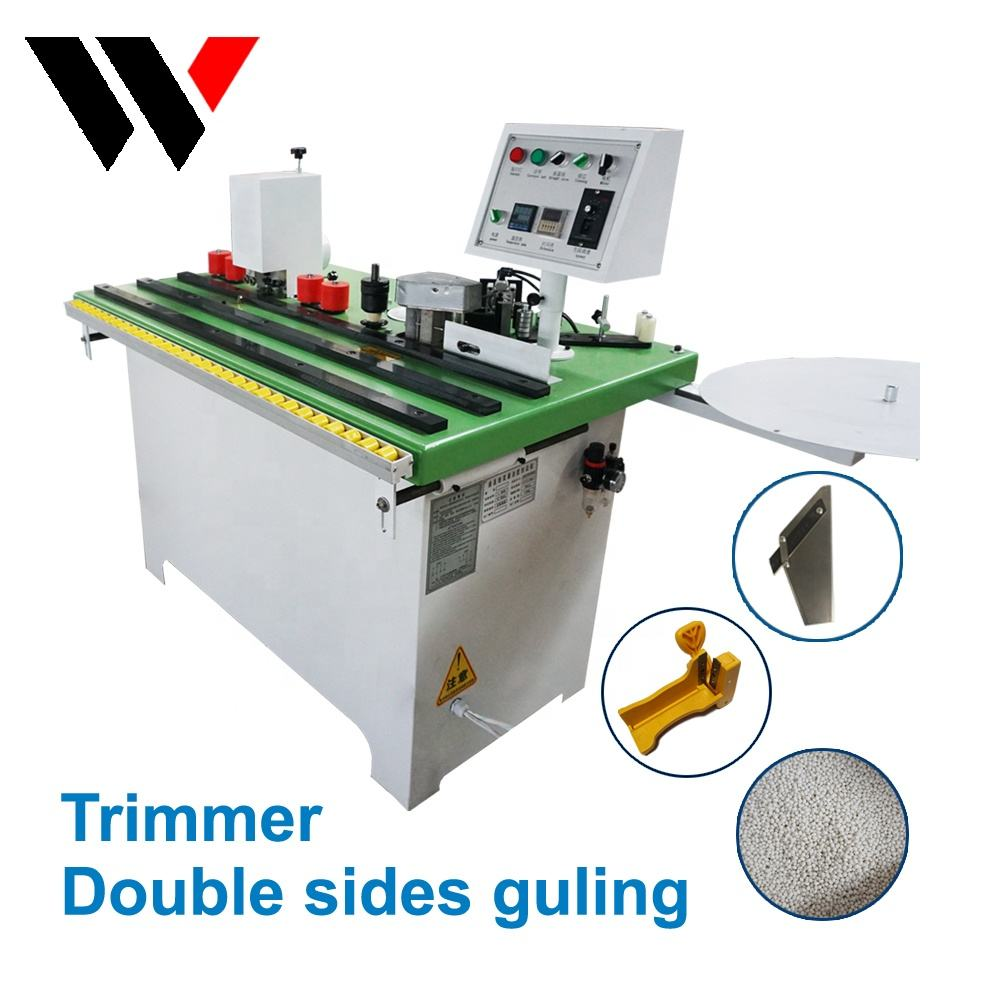 Small edgebander manual hand held edge banding machine with trimming