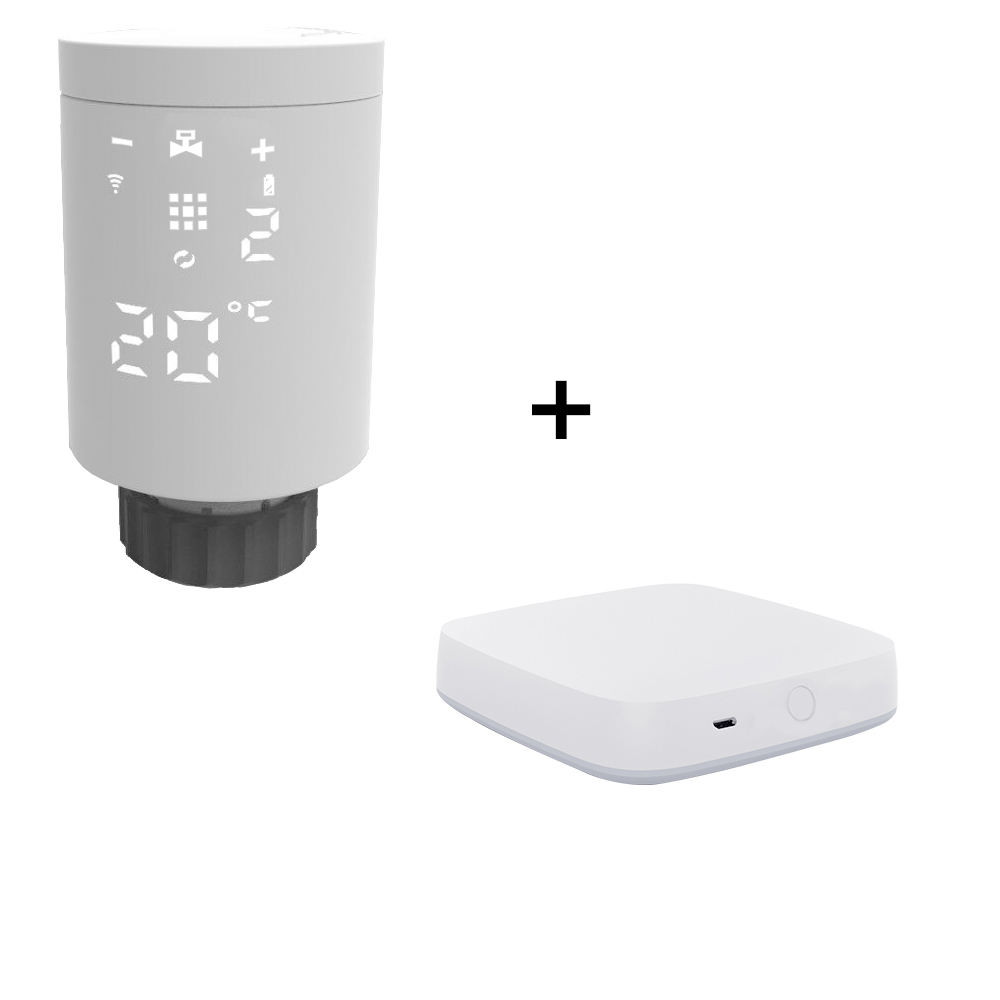 HYSEN room heating zigbee smart radiator thermostat with Tuya