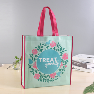 Eco Friendly Custom Logo Printed Reusable Non Woven Fabric Carry Bag Grocery Shopping Bags Handbag