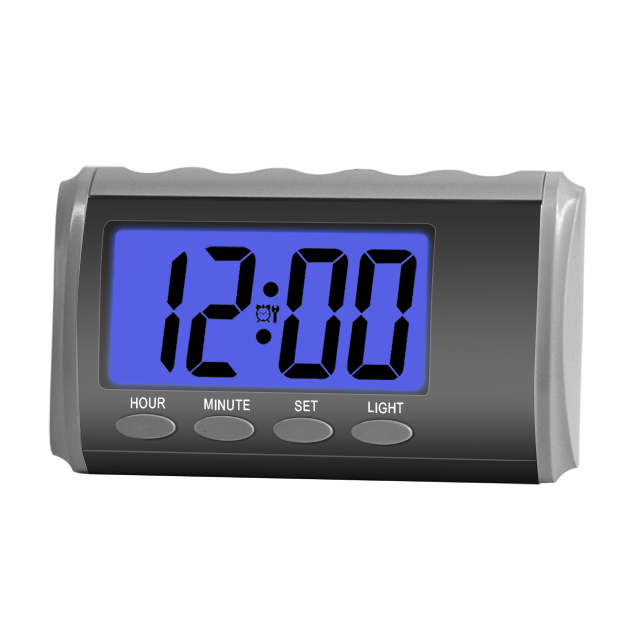 20plastic alarm clock lcd display led light custom lanague hear easy adults talking alarm clock for blind digital alarm clock