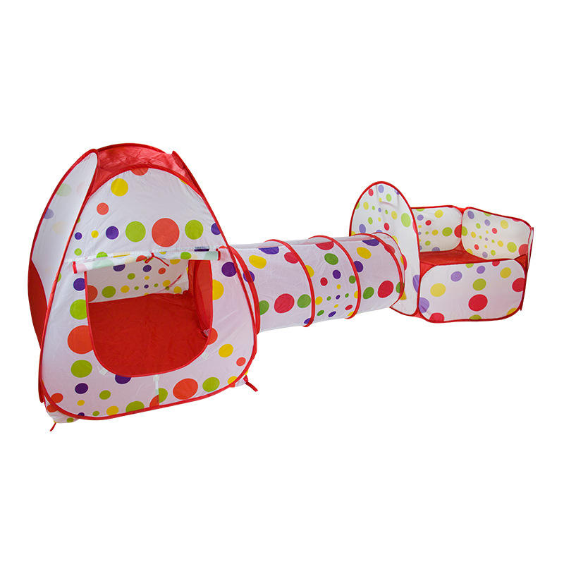 Best Selling Baby Toys High Quality Tents Tunnel Pitch Basketball 3PCS Set Game House Baby Other Toy