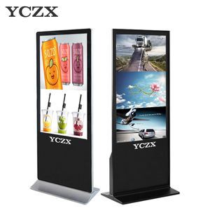 43 polegadas touch screen interior floor standing publicidade player de vídeo display led com usb