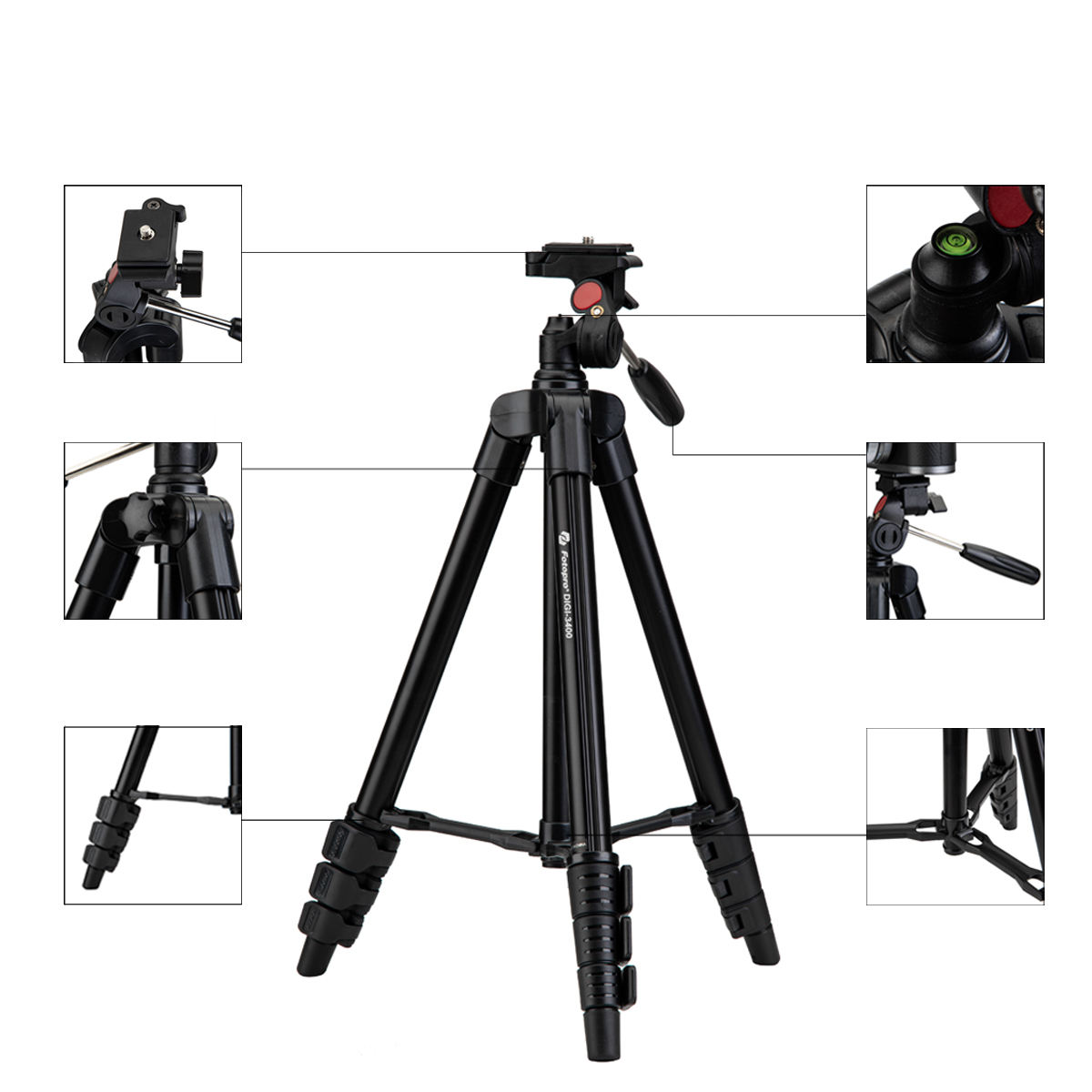 Fotopro Professional Best Lightweight Table Top Video Camera Tripod Stand