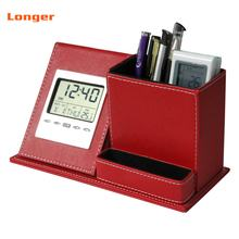 Fancy new product travel digital alarm clock with pen holder LG-B063