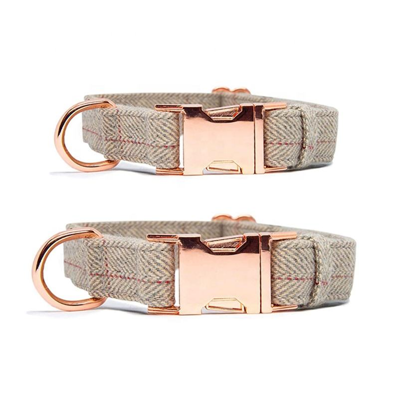Pet Supply Soft dog collar with metal buckle pet accessories