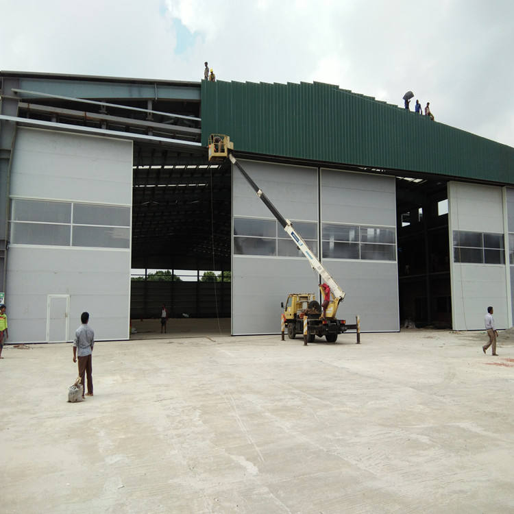 china supplier large size aviation aircraft sliding hangar doors with multiple door leafs for hangar