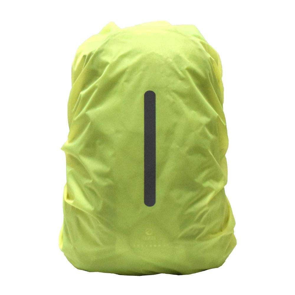 New Design Reflective Lightweight Portable Backpack Green L 60 Liter Waterproof Bag Reflective Rain Cover