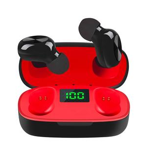 Sunline 2020 Merah Xiaomi Huwei Nirkabel Headphone Stereo 5.0 Bluetooth Mini Earphone In-Ear Tws Earbud dengan LED Display