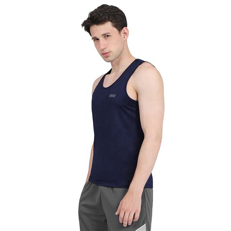 Factory Wholesale Men's Quick Dry Tank Tops Workout Gym Training Athletic Sleeveless Shirt in stock