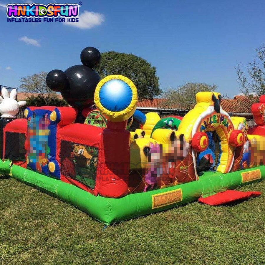 Mickey Mouse Outdoor Playground Inflatable Jumping Bouncy Castle For Kids