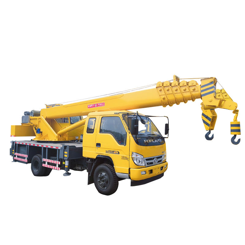 telescopic boom 7 sections 30 meter length pickup truck crane with cable winch
