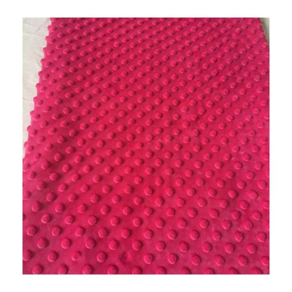 Factory Direct Sale Super soft Minky Dot Plush Fabric for Baby Blanket