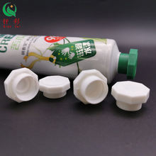 Smooth toothpaste tube plastic screw cap