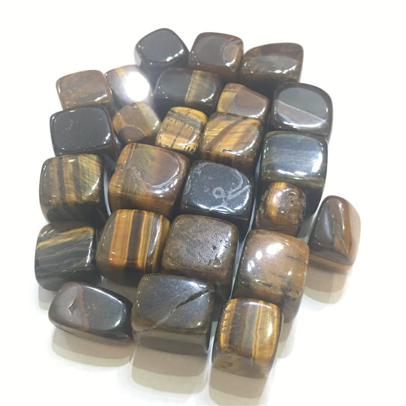 Hot Sale Natural square tiger's-eye Crystal healing stones gravel