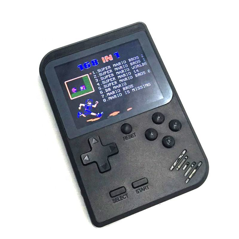 Hot Selling gamepad 168 in 1 Retro Mini Handheld Game Console Emulator built-in 168 games Video Games Handheld Console