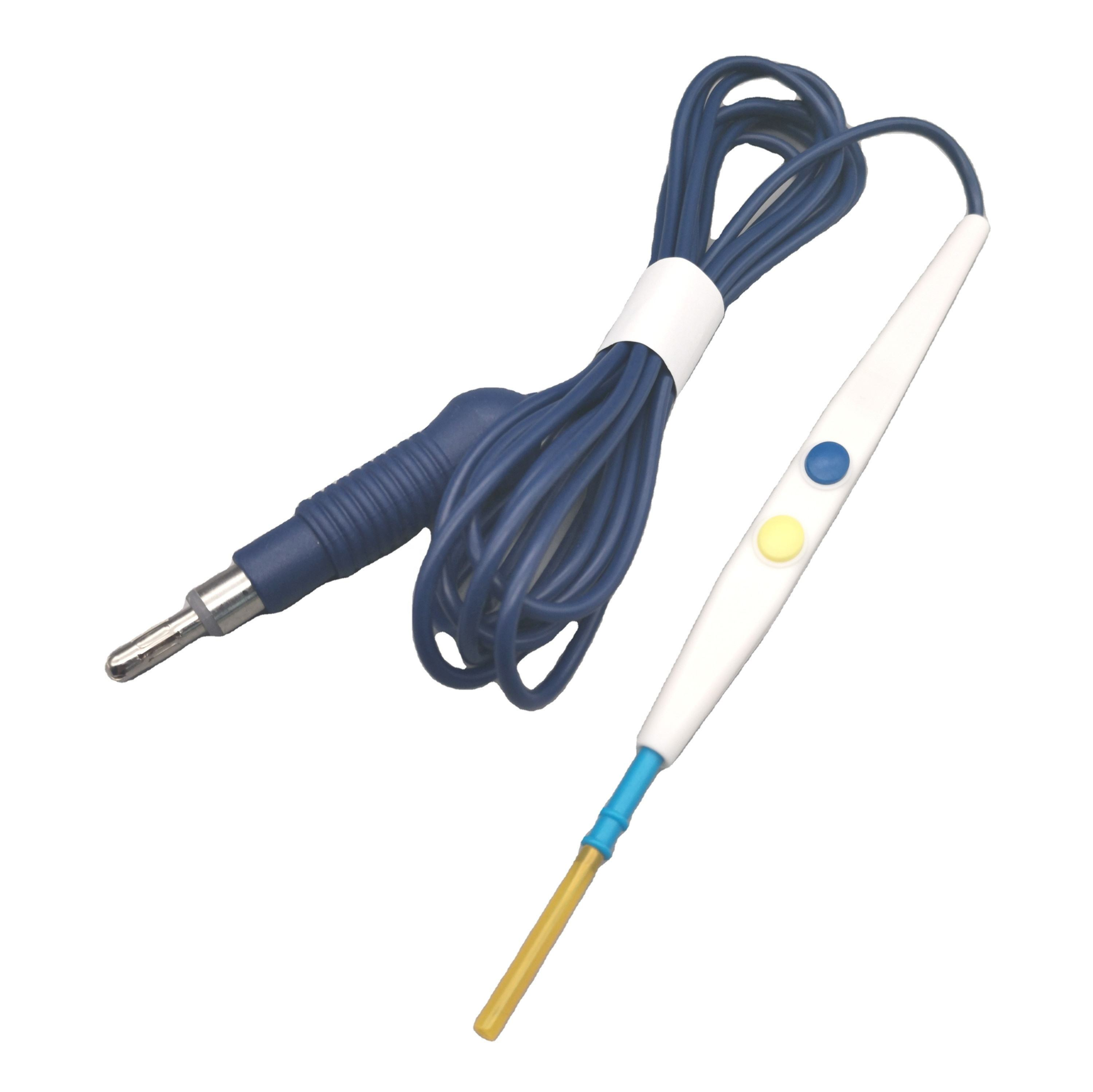 Hand Switch 1 Pin Plug Disposable Button Electrosurgical Pencil