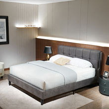 wholesale  leather bedroom sets with headboard Bed Frame queen Size bedroom furniture set From Derucci