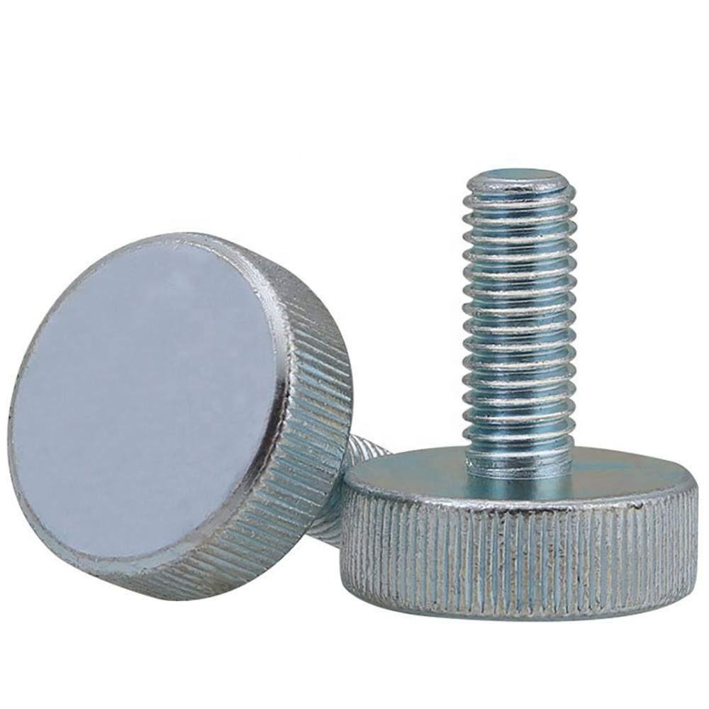 Flat Head Knurled Thumbscrews M3 M4 M5 M6 M8 M10 GB835 Carbon Steel Zinc plated Hand Tighten Adjust Screws Bolts