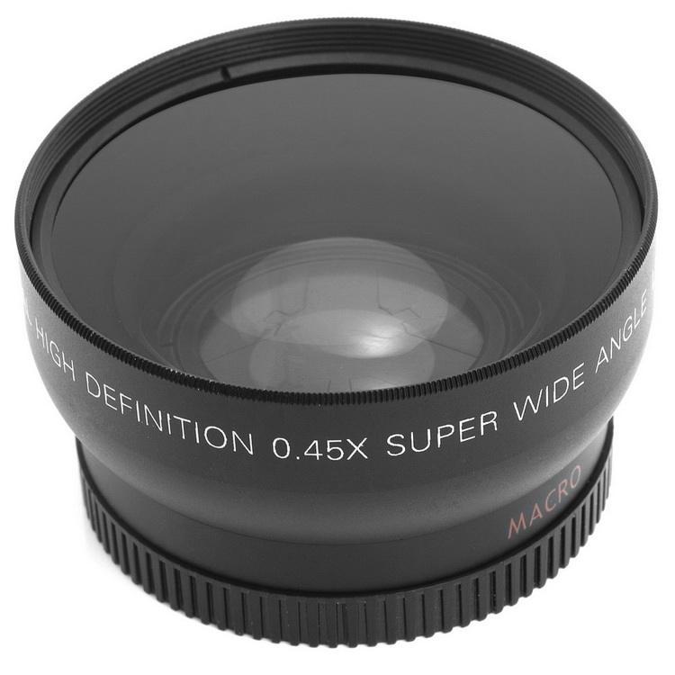 58mm 0.45X Grande Angular Da Lente Da Câmera Digital de Peças de Reposição