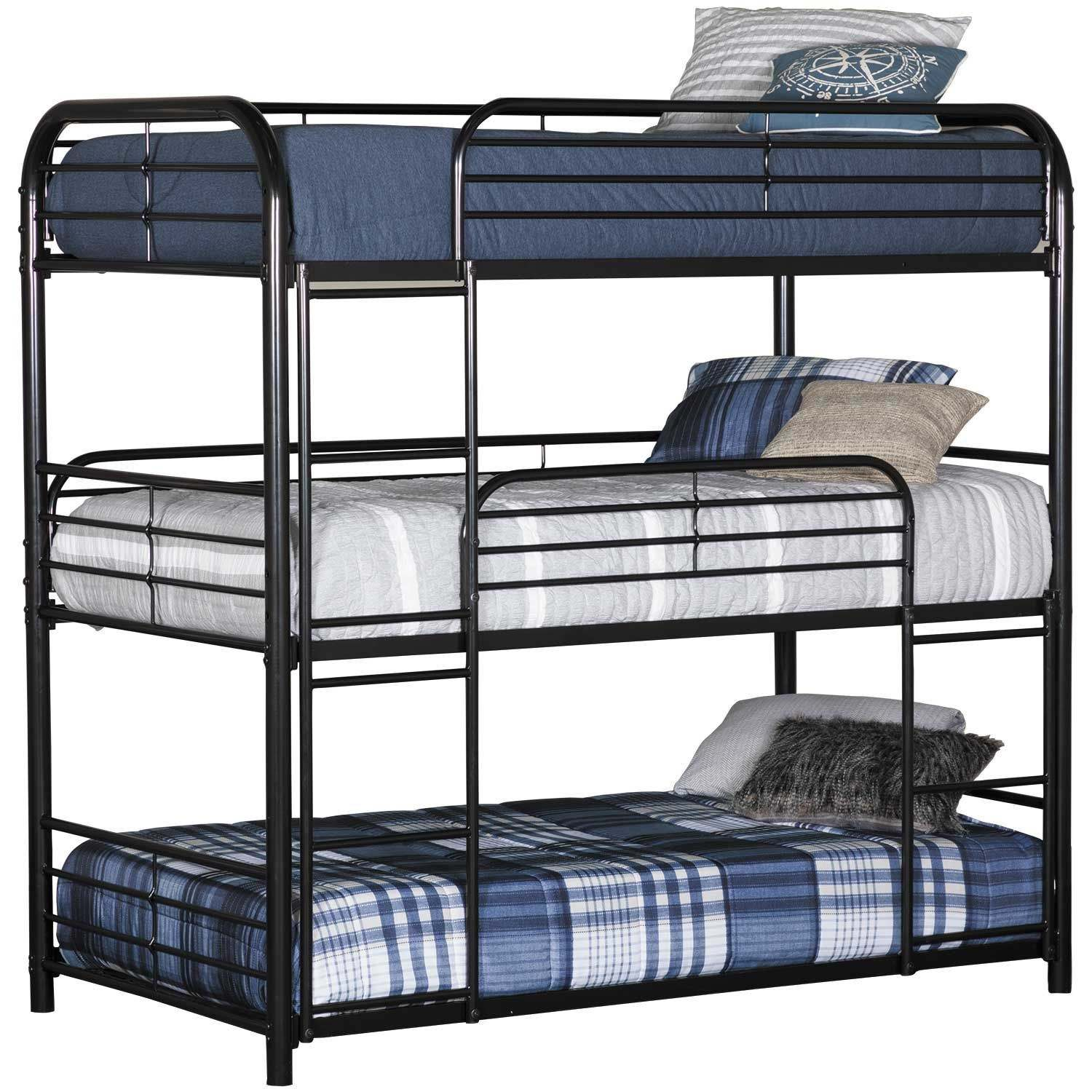 Triple bunk bed metal bunk beds for adults iron bunk bed literas de hierro tempat tidur susun 3 besi
