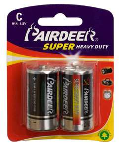 PAIRDEER private label c r14 super heavy duty battery