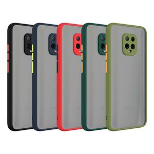 2020 Mobile Casing Translucent Matte Back Cover TPU PC Phone Accessories Case for Xiaomi Redmi 10X Pro 5G Mi 10 Lite Note 9 K30