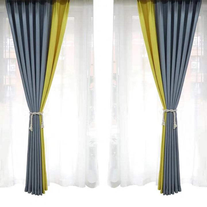 Linen Fabric Shading Curtain for Living Room