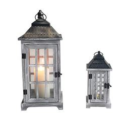 Home And Garden Wood And Glass Lantern Cheap Candle Lantern