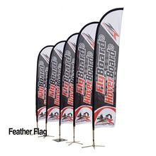 Swooper Polyester Outdoor Custom Logo Printed Advertising Teardrop Beach Feather Custom Flag