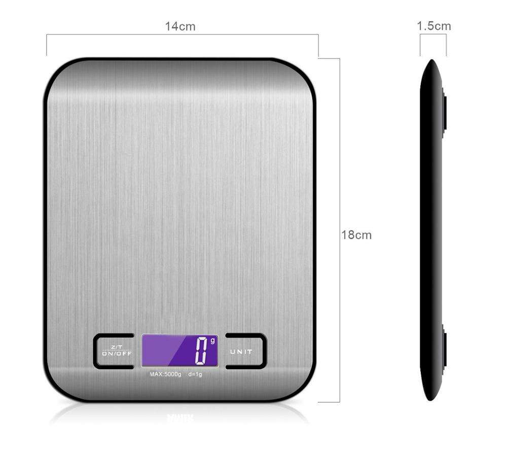 Stainless steel multi-functional weighing kitchen etekcity digital smart food scales for cooking